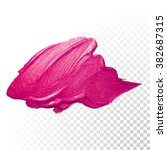 vector pink watercolor brush... | Shutterstock .eps vector #382687315