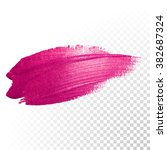 vector pink watercolor brush... | Shutterstock .eps vector #382687324