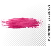 vector pink watercolor brush... | Shutterstock .eps vector #382687801
