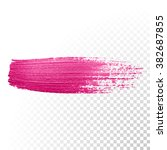 vector pink watercolor brush... | Shutterstock .eps vector #382687855