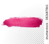 vector pink watercolor brush... | Shutterstock .eps vector #382687861