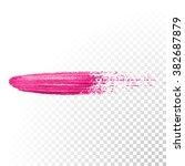 vector pink watercolor brush...   Shutterstock .eps vector #382687879