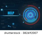 abstract electronic circuit... | Shutterstock .eps vector #382692007