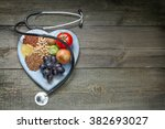 healthy lifestyle diet concept... | Shutterstock . vector #382693027