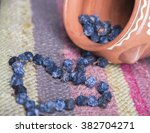 dried blue berries on a... | Shutterstock . vector #382704271