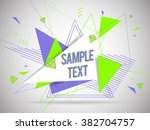 abstract geometric triangle and ... | Shutterstock .eps vector #382704757