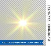 vector defocused shining sun...   Shutterstock .eps vector #382707517
