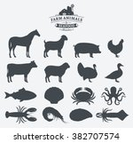 Vector Farm Animals And Seafoo...