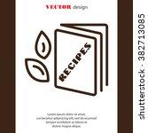 web line icon. recipe book | Shutterstock .eps vector #382713085