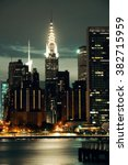 Small photo of NEW YORK CITY, NY, USA - JUL 12: Chrysler Building at night on July 12, 2014 in Manhattan, New York City. It was designed by William Van Alena as Art Deco architecture and the famous landmark.