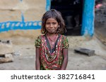 Small photo of RAXAUL, INDIA - NOV 12: Unidentified Indian girl on Nov 12, 2013 in Raxaul, Bihar state, India. Bihar is one of the poorest states in India. The per capita income is about 300 dollars.