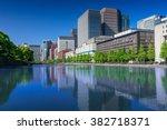 cityscape of tokyo city center... | Shutterstock . vector #382718371