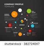 vector company infographic... | Shutterstock .eps vector #382724047