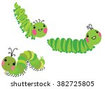 Cute Crawling Caterpillars Set...