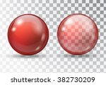 red ball. transparent red ball. ... | Shutterstock .eps vector #382730209