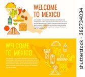 poster with traditional... | Shutterstock .eps vector #382734034