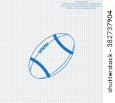 american football ball vector... | Shutterstock .eps vector #382737904