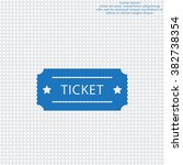 ticket icon. vector...   Shutterstock .eps vector #382738354