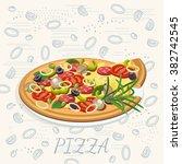 pizza. pizzeria poster | Shutterstock .eps vector #382742545