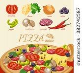 pizza. pizzeria poster | Shutterstock .eps vector #382742587