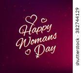 vector illustration happy women'... | Shutterstock .eps vector #382744129