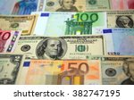 Various Paper Money Euro And...