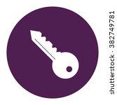 simple key. vector icon purple