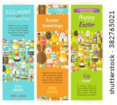 easter holiday invitation... | Shutterstock .eps vector #382765021
