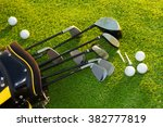 golf club in bag on grass | Shutterstock . vector #382777819