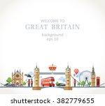 travel great britain england... | Shutterstock .eps vector #382779655