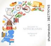 travel netherlands background...   Shutterstock .eps vector #382779745