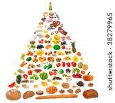food pyramid | Shutterstock . vector #38279965