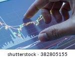 touching stock market graph on... | Shutterstock . vector #382805155