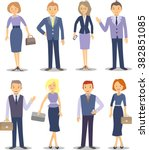 selection of business people.... | Shutterstock .eps vector #382851085