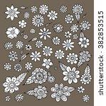 flower doodle vector | Shutterstock .eps vector #382853515