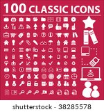 100 classic icons. vector | Shutterstock .eps vector #38285578