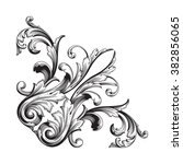 vintage baroque frame scroll... | Shutterstock .eps vector #382856065