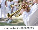 military brass band musicians... | Shutterstock . vector #382863829
