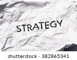 strategy   Shutterstock . vector #382865341