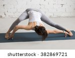 beautiful young woman working... | Shutterstock . vector #382869721
