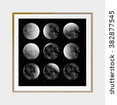 phases of the moon. abstract... | Shutterstock .eps vector #382877545