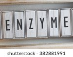 Small photo of ENZYME word on wood blocks concept