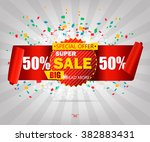 super sale paper banner. sale... | Shutterstock .eps vector #382883431