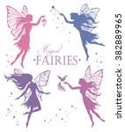Set Of  Fairy Vector Silhouett...