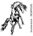 kicking horse | Shutterstock .eps vector #382890181