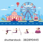 set stock vector illustration... | Shutterstock .eps vector #382890445