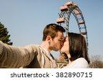 Vienna  Prater   Couple Kissin...