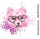 Cute Dog Watercolor...