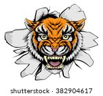 a mean tiger animal sports... | Shutterstock . vector #382904617