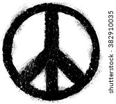 peace symbol vector in grunge... | Shutterstock .eps vector #382910035